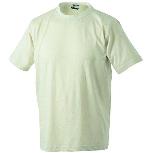 JAMES & NICHOLSON Herren T-Shirt, Einfarbig Beige - Beige