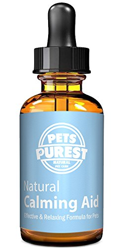 Pets Purest 100% Natural Calming Aid Supplement für Hunde, Katzen und Haustiere. Calm & Relax Anti-Angst Kräuter. Reduziert Angst und Stress bei Ihren Haustieren (50ml)