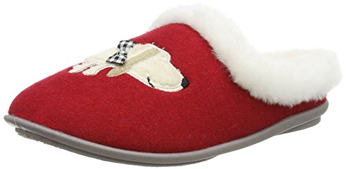 Lotus - Mia, Pantofole Donna Rosso (Rosso (Red))
