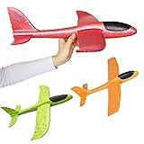 3 pièces avion en polystyrène, enfants avion jouet en plein air jeter planeur planeur jetant manuellement mousse voler modèle jouer équipement cadeau pour enfants garçon fille anniversaire des enfants