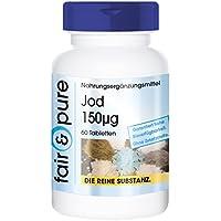 Iodio 150µg da ioduro di potassio - sostanza pura - no eccipienti/addtivi - 60 compresse vegetali
