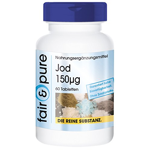 Iode 150µg d'iodure de potassium - 60 comprimés - substance pure - sans additifs