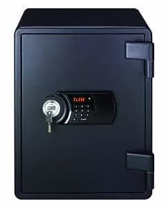 Lifebox Coffre fort à double parois/serrure renforcée 40 litres, Noir