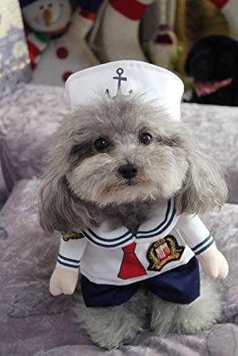 GHYSTORM Dog Kleidung Cool Pet Dog Kostüm Anzug Puppy Kleidung Mantel Kleidung für Hund Kostüm Outfit Krankenschwester Haustier Anzug-Seemann_XL