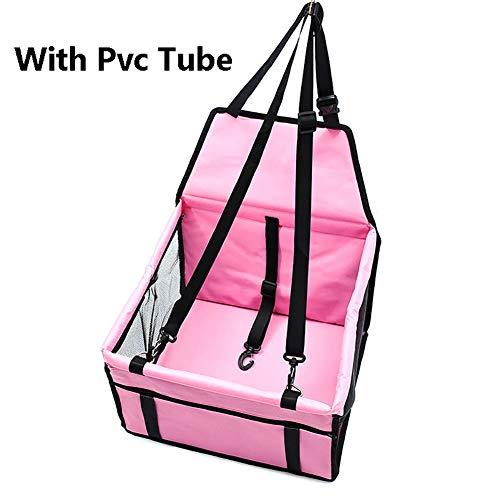Haustier-Hundeauto, wasserdichtes einzelnes vorderes Sitzmatten-Zusatzsitz-Haustier-Träger-Sitzschutz-Reisen,Pink