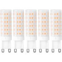 Kreema 5pcs G9 Base 75-LED Bombillas, 8W Reemplace la l¨¢mpara hal¨®gena, Blanco c¨¢lido 2700K-3200K, AC220-240V para L¨¢mpara de pared L¨¢mparas de iluminaci¨®n para el hogar