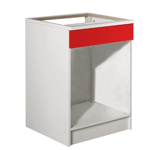 Bas four-Sous-plaque-Corps blanc-façade rouge/8017A2179A00