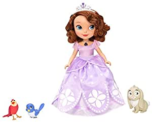 Disney Sofia the First Toy - Talking Sofia Deluxe Doll and Animal Friends