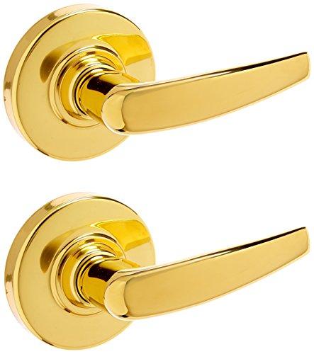 Design-passage Lock (Schlage ND10S ATH 605 13-048 10-025 ND-Series Grade 1 Cylindrical Lock, Passage Function, Keyless, Athens Design, Bright Brass Finish by Schlage Lock Company)