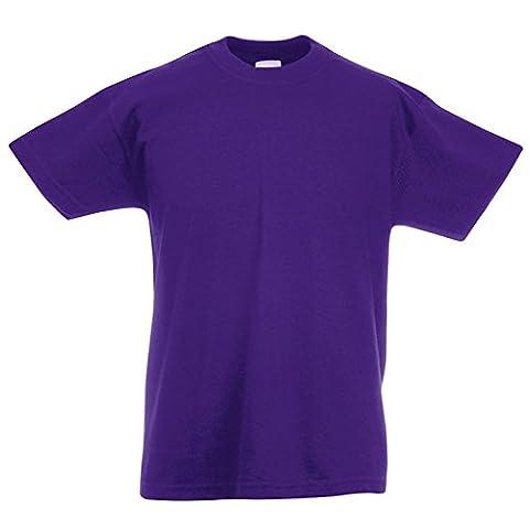 Fruit of the Loom Jungen Modern T-Shirt, Modern, violett, SS088