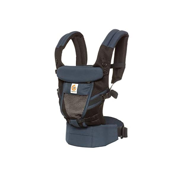 Ergobaby Baby Carrier for Newborn to Toddler, Raven Ergobaby Baby carrier for new-borns - the ergonomic bucket seat gradually adjusts to your growing baby, to ensure baby is seated in a natural frog-leg position (m-shape position) New - now with lumbar support. long-wearing comfort for parents with even weight distribution between hips and shoulders. Adapt 3 carry positions: front-inward, hip and back. the carrier has a padded, foldable head and neck support and a tuck-away baby hood for sun protection (upf 50+) and privacy. 1