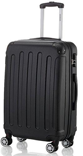 BEIBYE 2045 Hartschale Koffer Kofferset Trolley Reisekoffer Größe XL-L-M in 12 Farben (Schwarz, M)