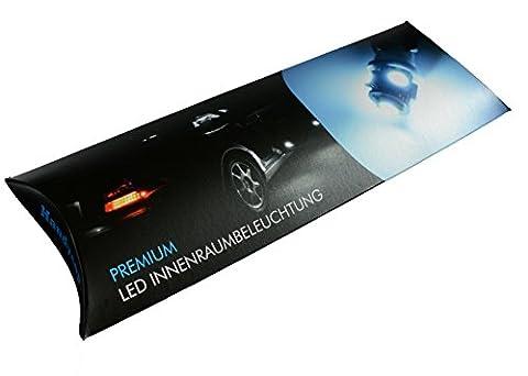 Handycop® LED Innenraumbeleuchtung für Ford Mondeo MK3 Kombi - Xenon Weiß - Komplett Set - 16 Stück - Keine
