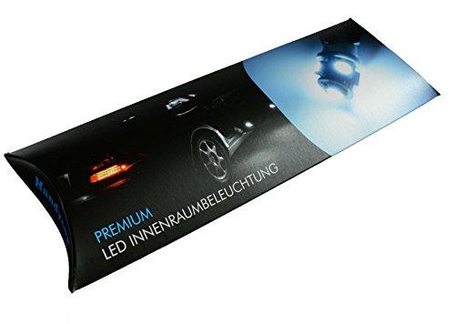 Preisvergleich Produktbild Handycop® LED Innenraumbeleuchtung für Audi A5 8T Coupe - Set 16 Stück - Farbe: Xenon Weiß - Check Widerstand - Komplett