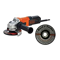 Black & Decker 100mm/115mm 650W Small Angle Grinder G650-B5 with 3 Metal Grinding Disk A17901N-AE, Orange/Black - G650MEA1-B5