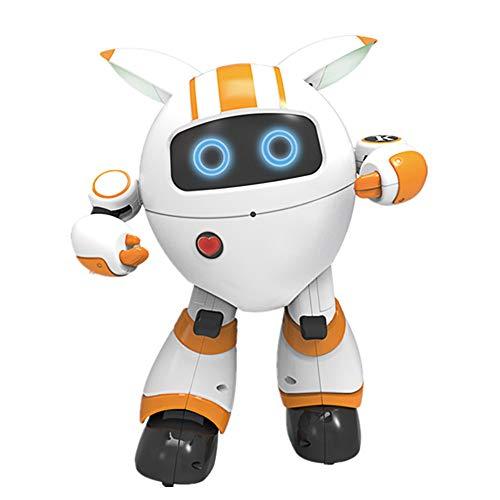 ACOC Inteligente RC Robot Juguete Control Remoto Gesto Robot Kit Con Programación Intelectual, Cantando Y Bailando Robots Recargables Multifuncionales Para Niños, Regalo De Juguete Para Niños,Amarillo