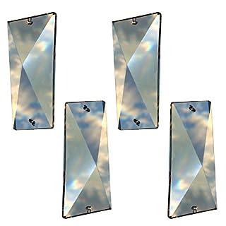 Kristall Schiefstein 58mm 4 Stück - Regenbogenkristall - Feng Shui - Esoterik - Fensterschmuck - Kristallglas - Kristallstein - X Prisma