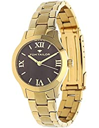 Tom Tailor Mujer Reloj Cuarzo Acero inoxidable oro marrón 5416203