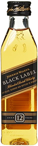 *Johnnie Walker Black Label Scotch 12 Years Old PET  Whisky (1 x 0.05 l)*