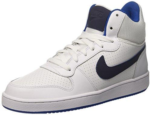 Nike Court Borough Mid, Scarpe da Ginnastica Uomo Bianco (White/Thunder Blue/Blue Jay)