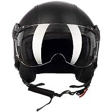 e96e8343f05e5 Westt® Classic X Leather · Casco Moto Jet Abierto de Cuero Estilo Vintage  para Motocicleta