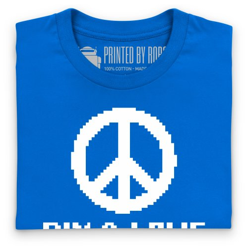 Pix and Love T-Shirt, Herren Royalblau