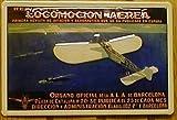 Blechschild Nostalgieschild Locomotion Aerea Barcelona Flugzeug Schild Spanien