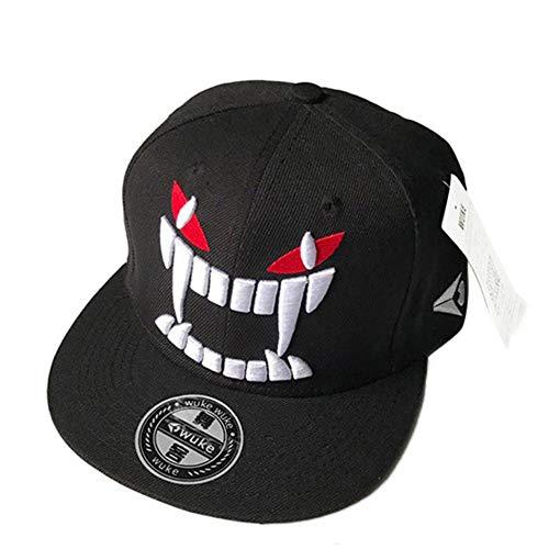 MAOZIJIE Erwachsene Mode-Hip-Hop-Kappen-Persönlichkeit-Zufällige Baseballmütze Mit Dämonen-Stoßmuster Der Roten Augen -