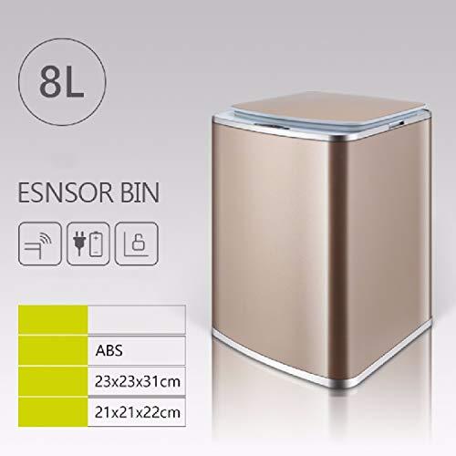 ZPSPZ cubos de basura Inducción basurero automático Inteligente de Carga hogar Cocina,...