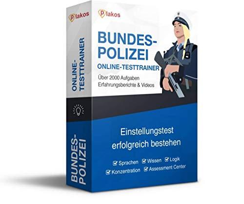 Bundespolizei Einstellungstest Online-Testtrainer: authentische und interaktive Aufgaben aus den Bereichen Sprache, Konzentration, Allgemeinwissen und Logik | Vorbereitung auf den Eignungstest