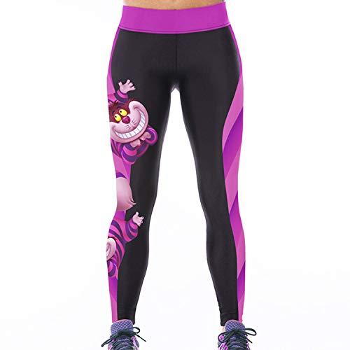 Sasairy Donna Sport Pantaloni Full Length Leggings non Pantaloni Collant Elastico ci si Vede Attraverso Fitness Workout Yoga in Esecuzione Hipster Usura Esterna Palestra EU 32-38 Colore-002