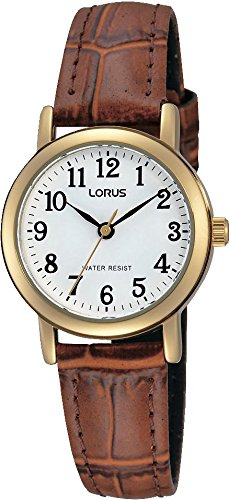 Lorus Women's Analogue Quartz Watch with Leather Strap RRS18VX9