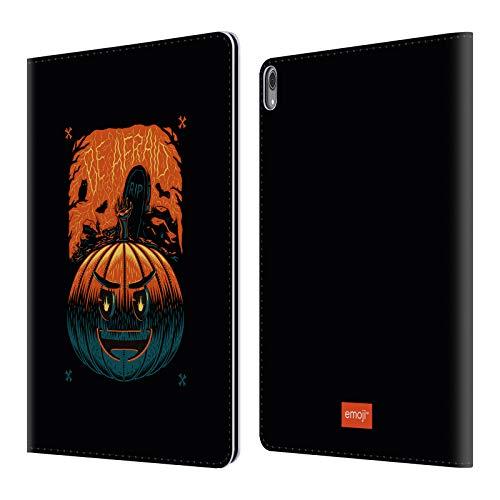 Head Case Designs Offizielle Emoji® Kürbis Halloween Leder Brieftaschen Huelle kompatibel mit iPad Pro 12.9 (2018)