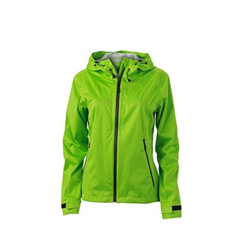 JAMES & NICHOLSON - Veste softshell imperméable et respirante - trekking - sports - JN1097 - Femme vert printemps - gris fer