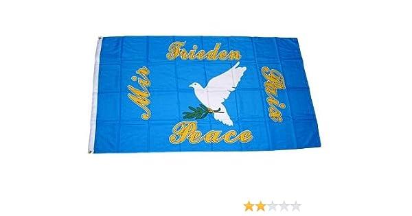 Fahne Friedenstaube Peace Taube Hissflagge 90 x 150 cm flagge