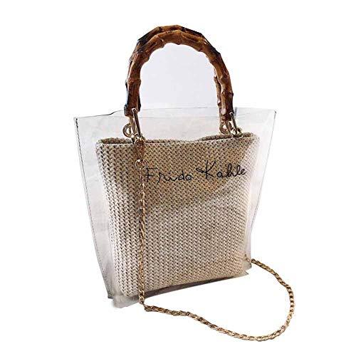 Basisago Bonbonfarbengeleepakets Transparente Tasche Art Und Weisehandtasche Kuriertasche Jelly Package Transparent Handbag -