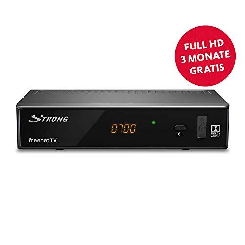 STRONG SRT 8541 DVB-T2 Receiver, freenet-TV Full HD (HDTV, FHD, HDMI, LAN, SCART, Mediaplayer, USB, H.265) Schwarz