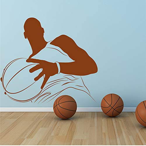 (Mhdxmp Basketball-Spieler Vinyl Wandaufkleber Porträt Amerikanischen Sport Wandaufkleber Gym Home Decor Kunst Aufkleber Neuheiten Mural44 * 50 Cm)