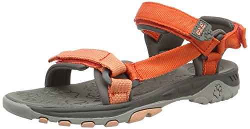 Jack Wolfskin Unisex-Kinder Kids Seven Seas Outdoor Sandalen, Orange (Hot Coral), 31 EU