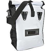 Fischer Gepäckträger Tasche, weiß, 55 x 13 x 25 cm, 18 Liter