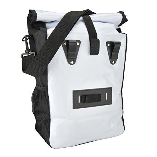 Fischer Gepäckträger Tasche, Weiß, 4 x 32 x 41 cm, 18 Liter