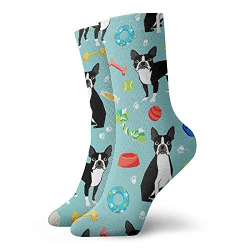 CHSUNHEY Socken Unisex Boston Terrier Toys Dog Breathable Fantasy Ankle Running Hiking Socks-Weekend Sport Athletic Socks Short Crew Socks 11.8in -