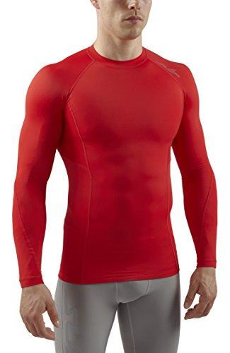Sub Sports Herren RX Abgestufte Kompressionsshirt Funktionswäsche Base Layer langarm, Rot Stealth, L