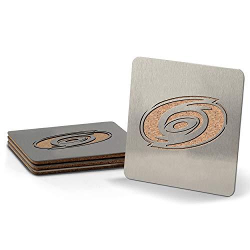 Sportula NHL Carolina Hurricanes boasters, schwere Edelstahl Stahl Untersetzer, 4Stück (Nhl Hurricanes)