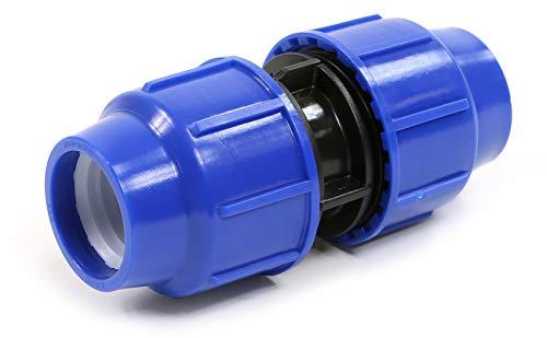 PP connecteur de serrage pour tuyaux en PE 25 mm x 25 mm