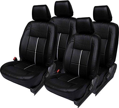 Bhati Car Seat Cover Black Bucket Sports for Mahindra KUV 100 6 Seater (2015-2017)