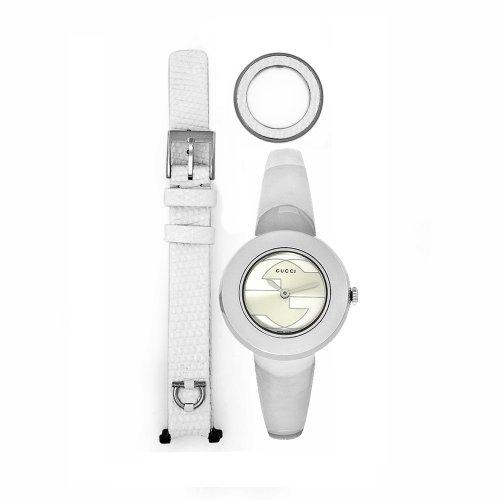 Gucci # YA129501–Uhr, Edelstahl-Armband Silber