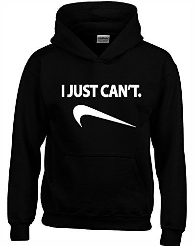 Designs by The Crown I JUST Cant Funny Unisex Hoodies for Men, Women & Teenagers