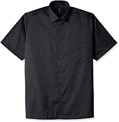 Van Heusen Mens Formal Shirt (8907566212194_VHSH1M7689140_40_Black Solid)