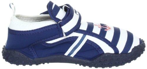 Playshoes Aqua-Schuh Maritim mit höchstem UV Schutz nach Standard 801 174781, Sandales garçon TR-B1-Bleu-120